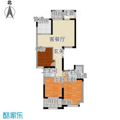 宏基天城132.00㎡6#中间户K1户型3室2厅2卫1厨