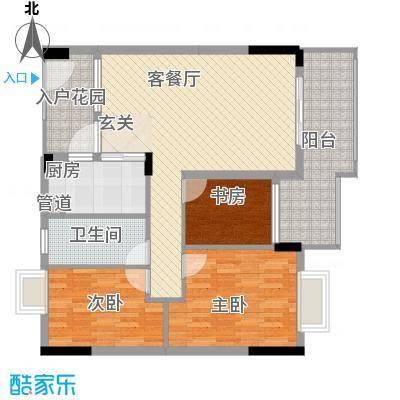 阜丰豪庭11.26㎡16栋01F2户型2室2厅1卫1厨