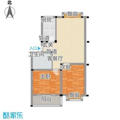 华景新城6.23㎡J户型2室2厅1卫1厨
