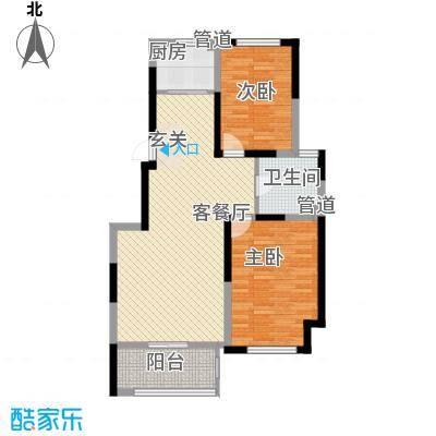 海峡・湖尚城多层Jj2户型2室1厅1卫1厨