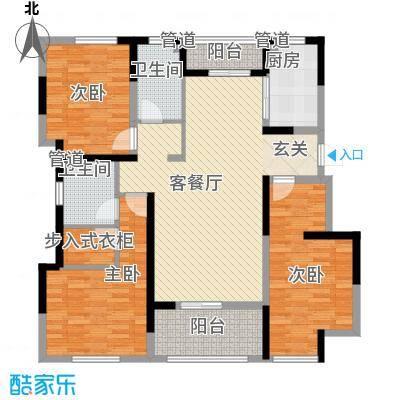 海峡・湖尚城13.00㎡多层J型j4户型3室1厅2卫1厨