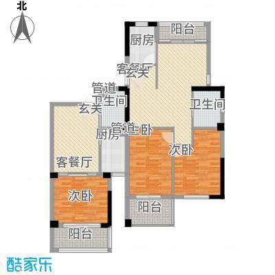 姚江公馆141.00㎡A+户型