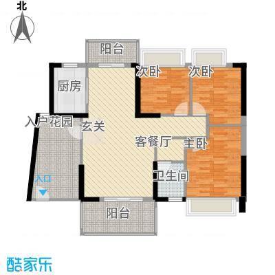 侨城水岸11.00㎡1栋01户型3室2厅2卫1厨