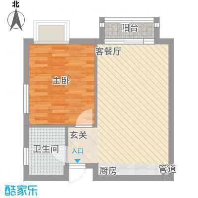 海德公园5.00㎡K2户型1室1厅1卫