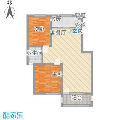 中央华府A8楼0户型2室2厅1卫1厨