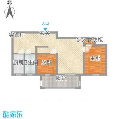 中央华府A3楼0户型2室1厅1卫1厨