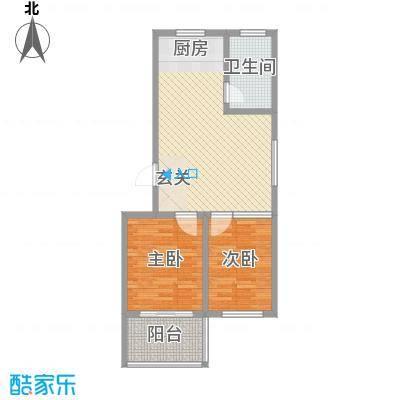华安东方明珠81.00㎡三期多层住宅户型2室2厅1卫1厨