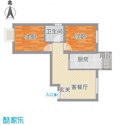 丁香园88.72㎡9#H2户型3室2厅1卫