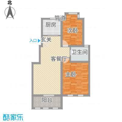 海峡・湖尚城11.00㎡小高层D-3户型2室1厅1卫1厨