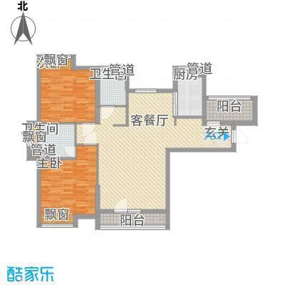 紫阳楚世家112.00㎡9号楼1单元1号房户型3室2厅2卫1厨