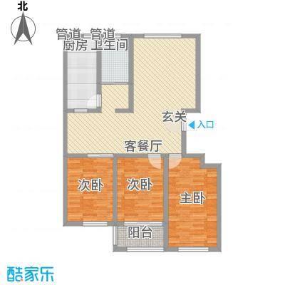 景谊苑小区136.00㎡7/8号楼小高层西单元户型3室2厅1卫1厨
