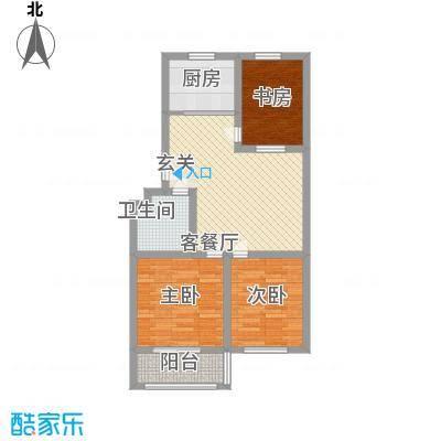 景谊苑小区5.80㎡17-20号楼东单元户型3室2厅1卫1厨