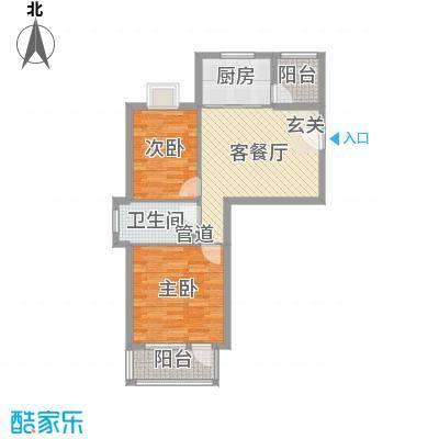 城市之星小高层F户型2室1厅1卫1厨