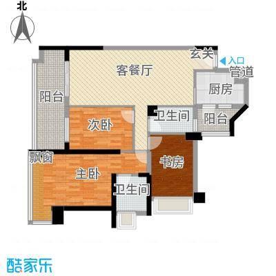 惠州雅居乐白鹭湖112.00㎡03、04号户型3室2厅2卫1厨