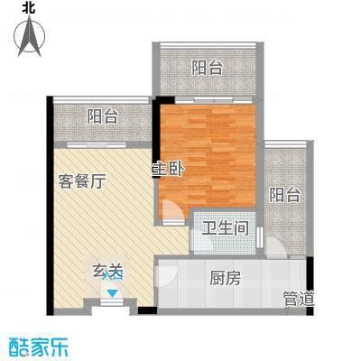 惠州雅居乐白鹭湖83.00㎡公寓户型