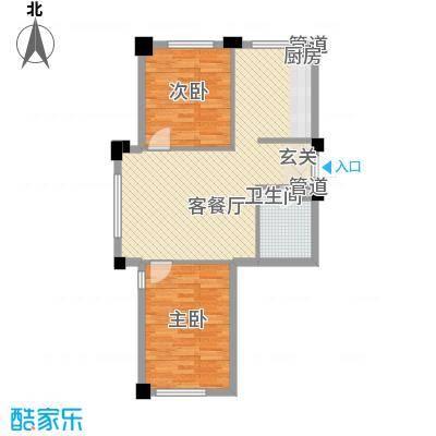 悦泰街里项目82.00㎡7号楼A1户型2室1厅1卫1厨