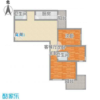 金盛园146.42㎡E户型3室2厅2卫1厨