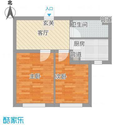 铖裕香榭湾6.00㎡A户型2室1厅1卫1厨