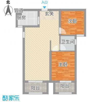 龙桥新园二期7、9号楼标准层B2户型