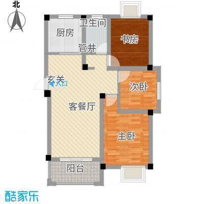 天悦华景2.30㎡二期多层Af2户型3室2厅1卫1厨