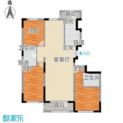 中信御园14.00㎡C户型3室2厅2卫1厨