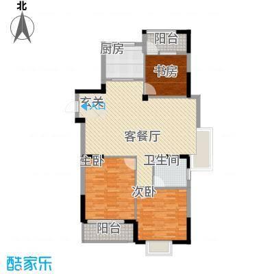康华・心海湾118.00㎡C2户型3室2厅1卫1厨