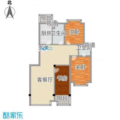 滨江花苑144.00㎡B户型3室2厅2卫