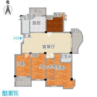 黄山豪庭174.00㎡A户型4室2厅2卫1厨