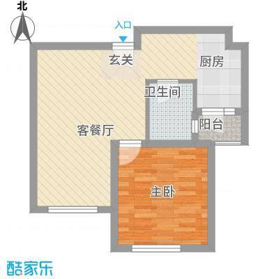 清林闲庭62.00㎡户型1室