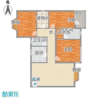 盛世华庭B6143.26㎡C户型3室2厅2卫1厨
