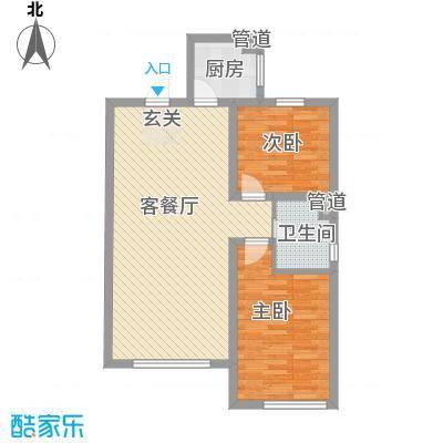 黄金家园14.00㎡户型4室