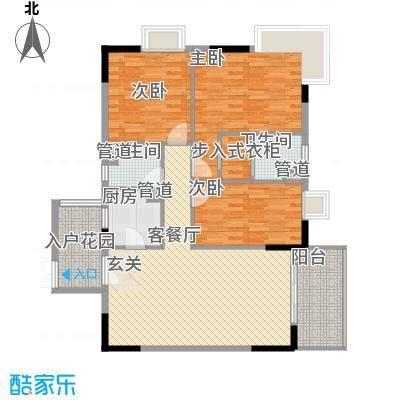 丽日百合家园165.00㎡户型4室