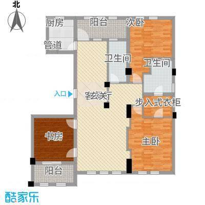 维科太子湾165.00㎡9#、10#边套标准层F户型3室2厅2卫1厨