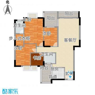 TCL翠园16.00㎡户型3室
