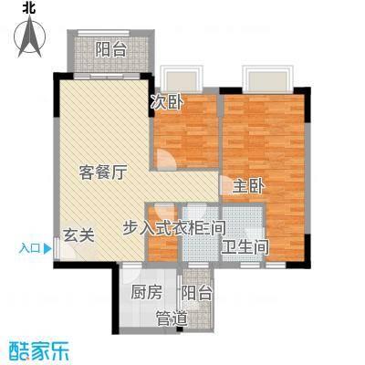 东田山畔华庭1.34㎡2栋04户型2室2厅2卫1厨