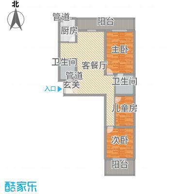 金基泰和苑146.78㎡M户型3室2厅2卫1厨