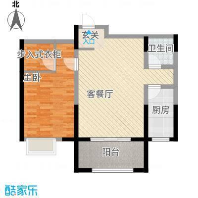 恒馨苑85.61㎡B户型1室1厅1卫1厨