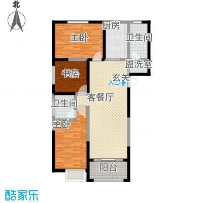 恒馨苑128.32㎡A户型3室2厅1卫1厨