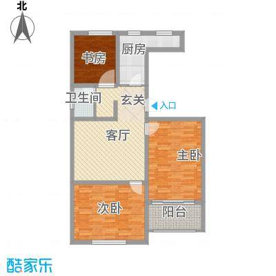 恒信西江月112.00㎡二期F户型3室1厅1卫1厨