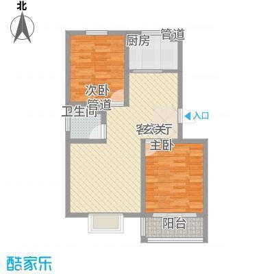 祥瑞雅居81.00㎡多层A户型2室2厅1卫1厨