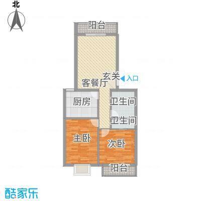 昊业・紫御府2.46㎡二期2#楼户型