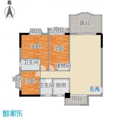 汇景中央126.24㎡A1A2栋07单元户型3室2厅2卫