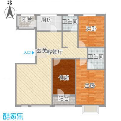 绿地新里中央公馆121.00㎡13栋05户型3室2厅2卫