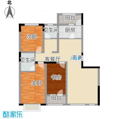 绿地新里中央公馆138.00㎡13栋04户型3室2厅2卫