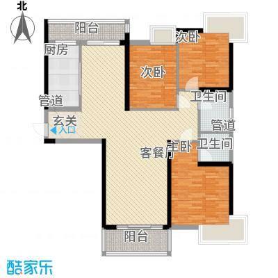 开平海逸华庭133.00㎡逸豪轩2幢01标准层户型