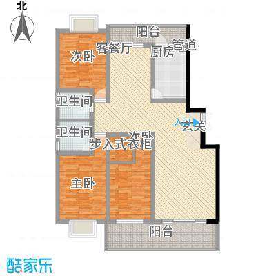 五洲花园143.00㎡该已售完户型3室2厅2卫1厨
