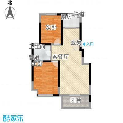 海峡・湖尚城多层jj5户型2室1厅1卫1厨