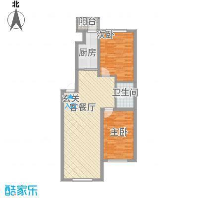 国盛东润枫景8.80㎡星季如梦户型2室2厅1卫