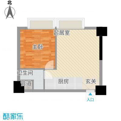 LAKE街区知音国际茶城6.00㎡11号楼D户型1室1厅1卫1厨