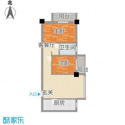 LAKE街区知音国际茶城87.60㎡6、7、8号楼A2户型2室2厅1卫1厨